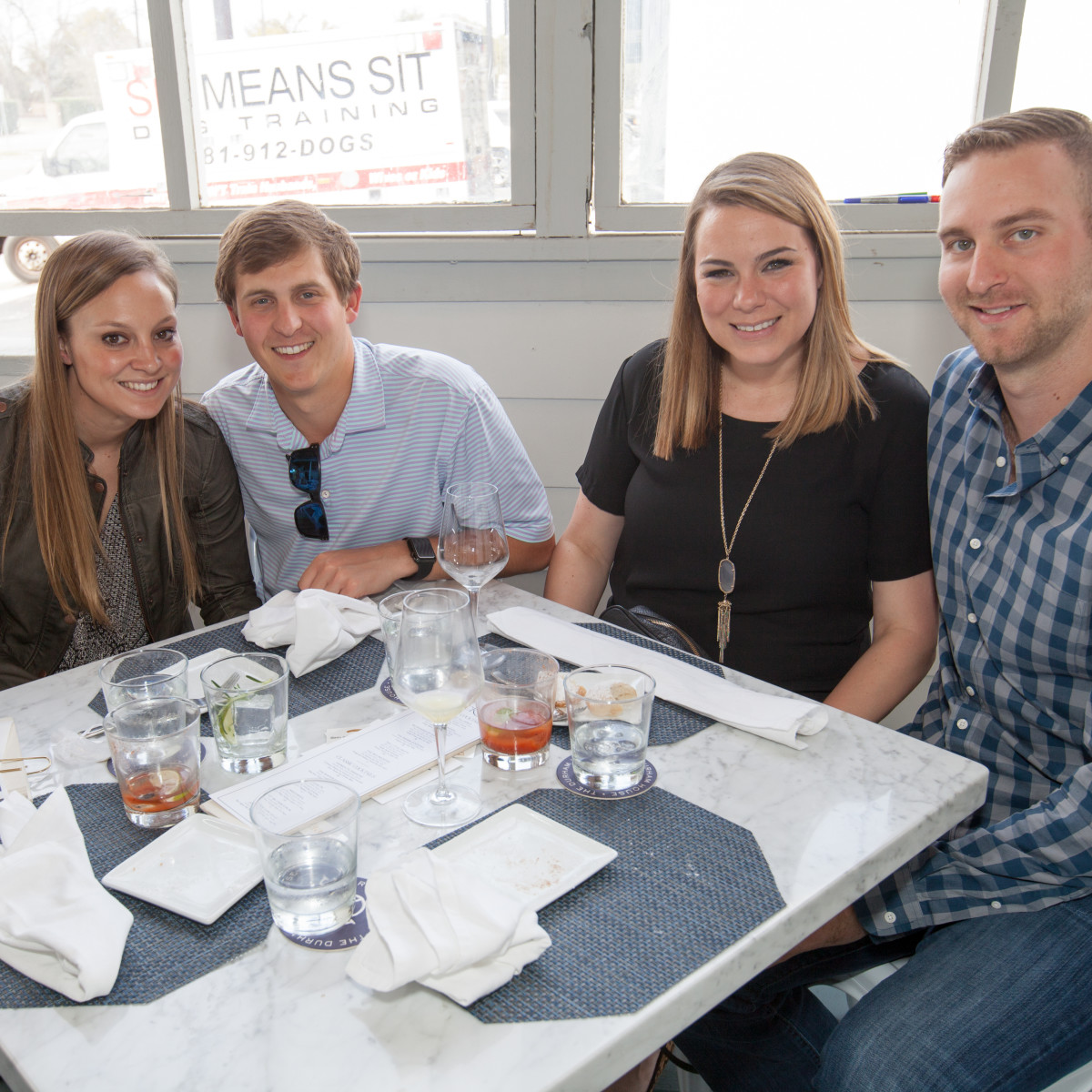 Durham House brunch, March 2016, Melinda Sisk, Dylan Koonce, Kelly Bronson, Evan Bronson