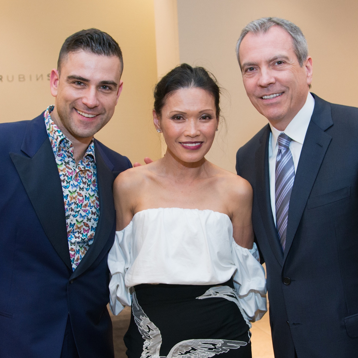 Rubin Singer, Duyen Huynh, Bob Devlin at Dress for Dinner