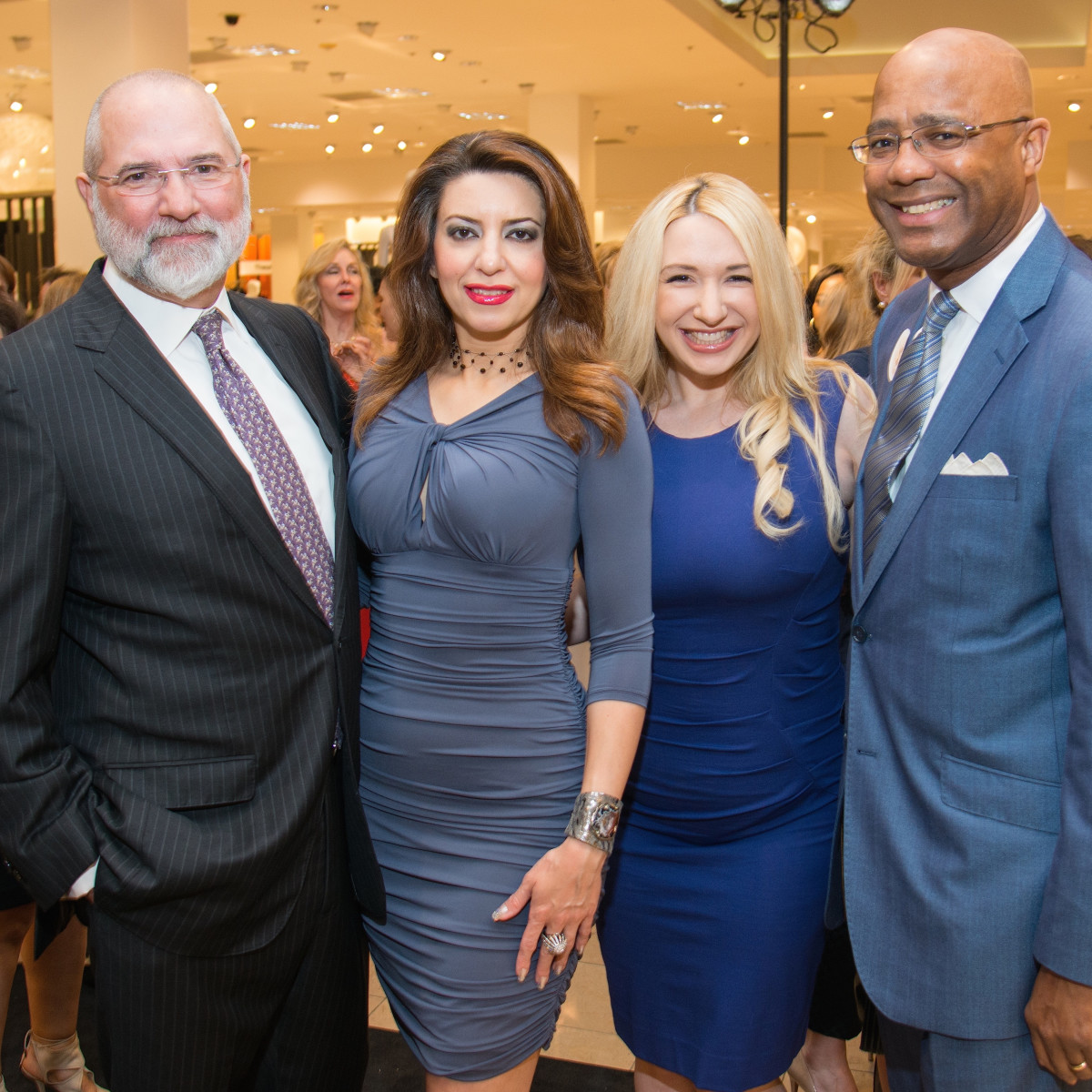 Bob Cavnar, Parissa Mohajer, Anna Kaplan, Michael Pearson at Dress for Dinner