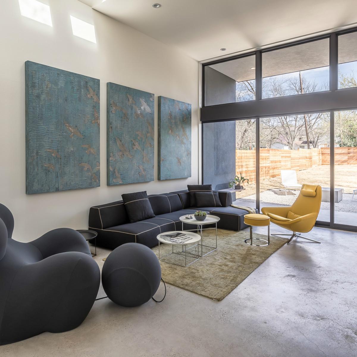 Austin house home dulplex 3305 Garden Villa Lane 78704 March 2016 living