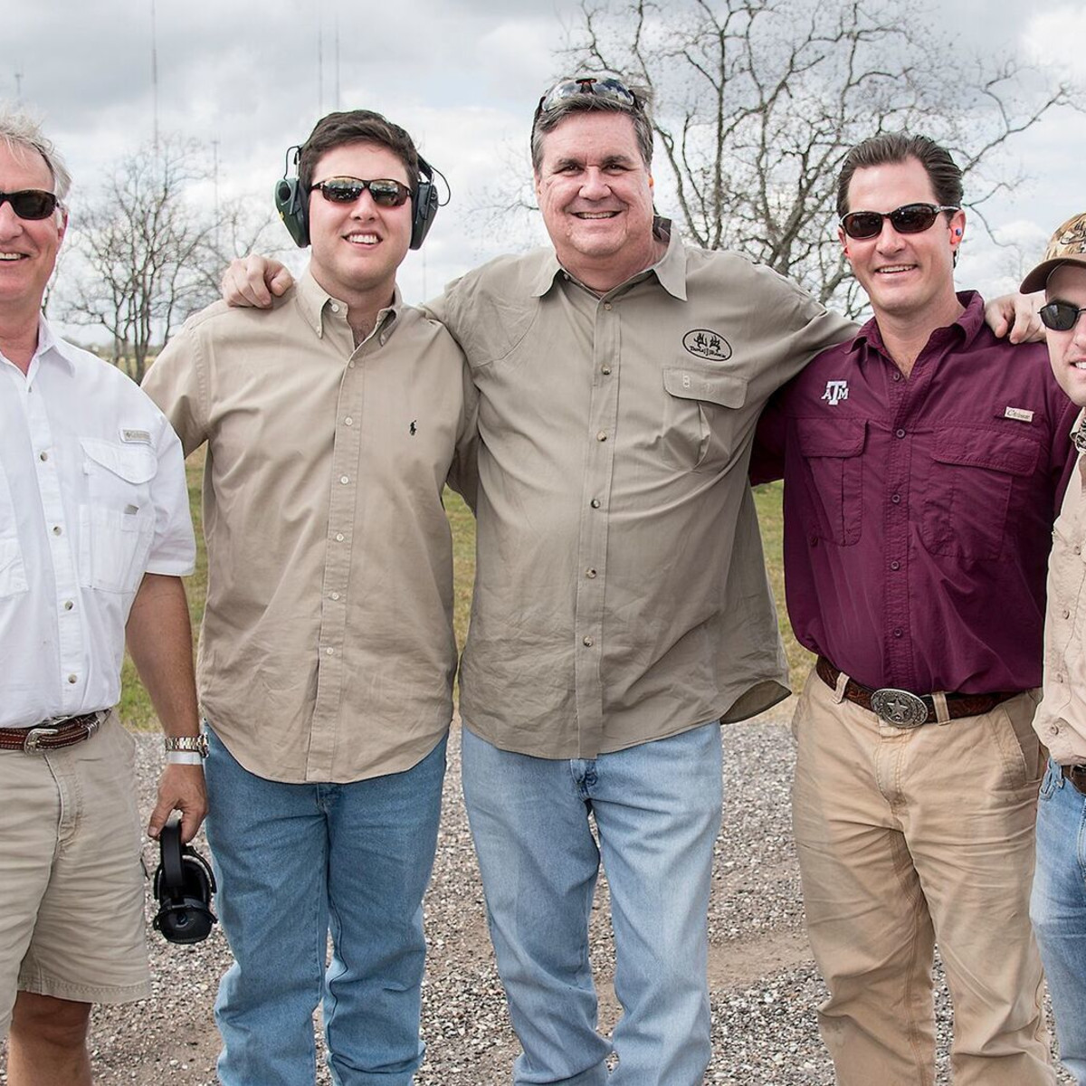 Trey Strake, G Strake, Perry Hicks, Lucian Bukowski, Jason Johnson at Memorial Hermann Clay Shoot
