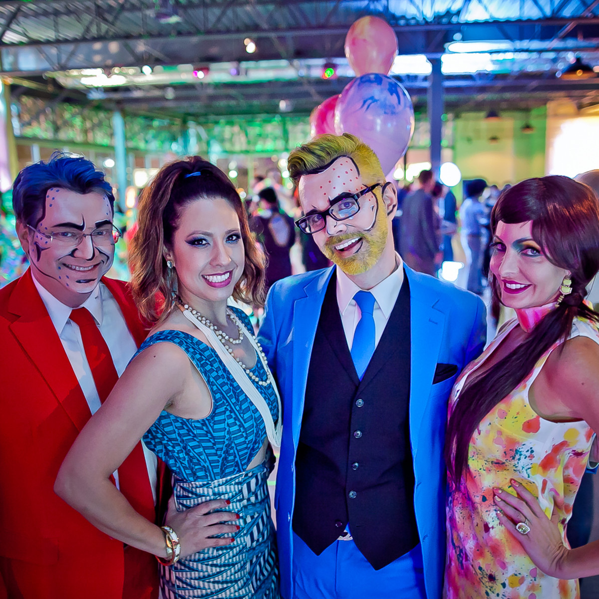 The Paint Ball, Feb. 2016, Matt Burrus, Anika Jackson, Michael Pearce, Traci Henderson