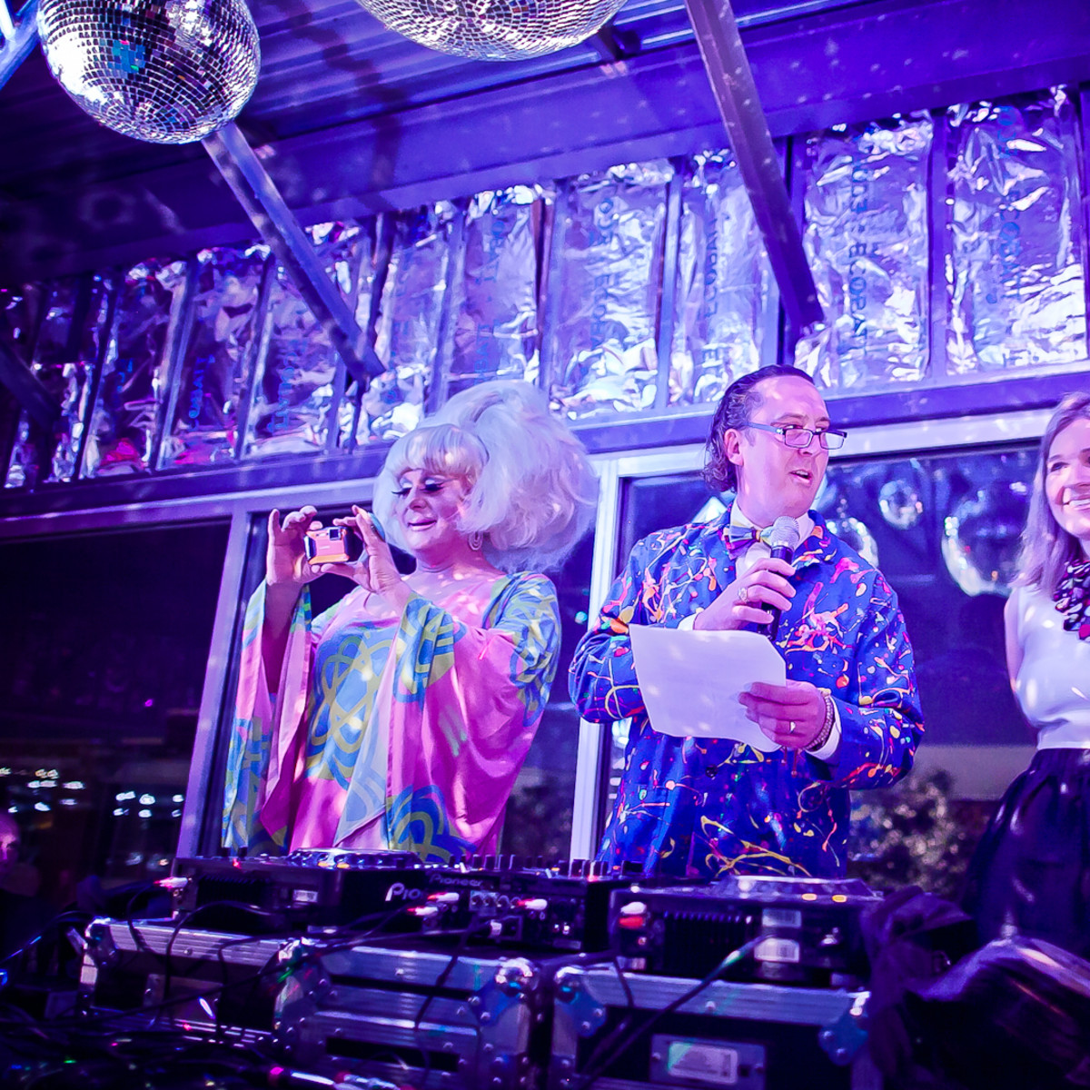 The Paint Ball, Feb. 2016, Lady Bunny, Harry McMahan, Marci Dallas
