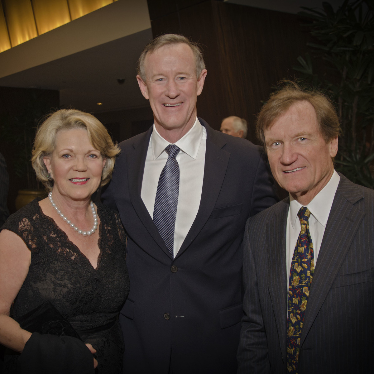 Texas Heart Institute dinner, Feb. 2016, Pam Ott, William McRaven, Dr. David Ott