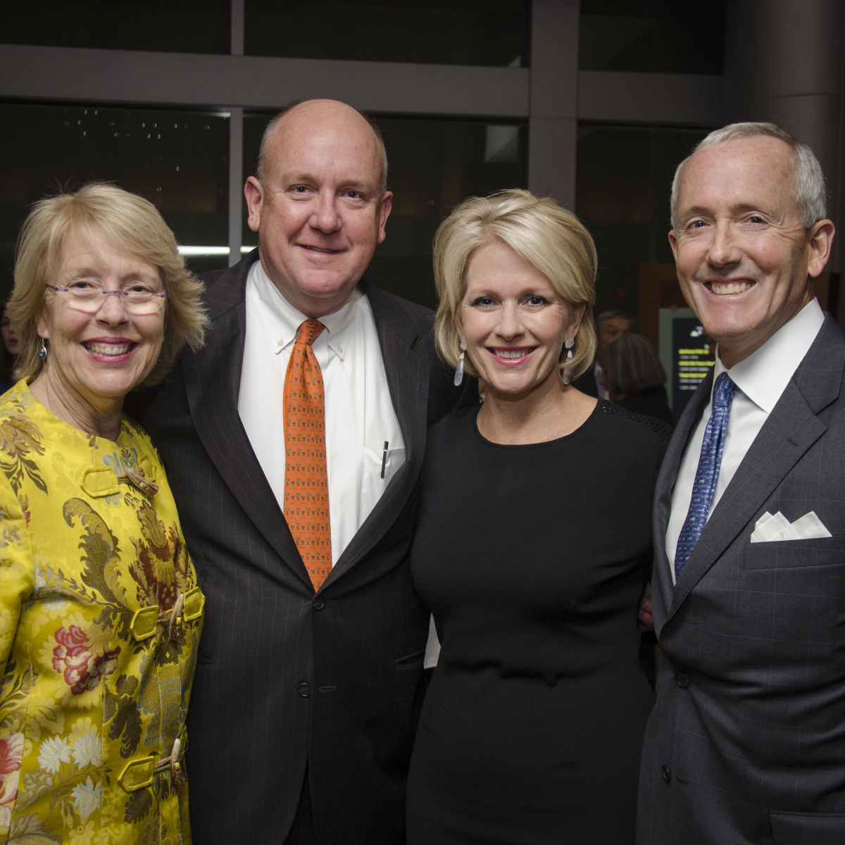 Texas Heart Institute dinner, Feb. 2016, Susan Cooley, Dr. Charles Fraser, Helen Fraser, Dr. John Craddock