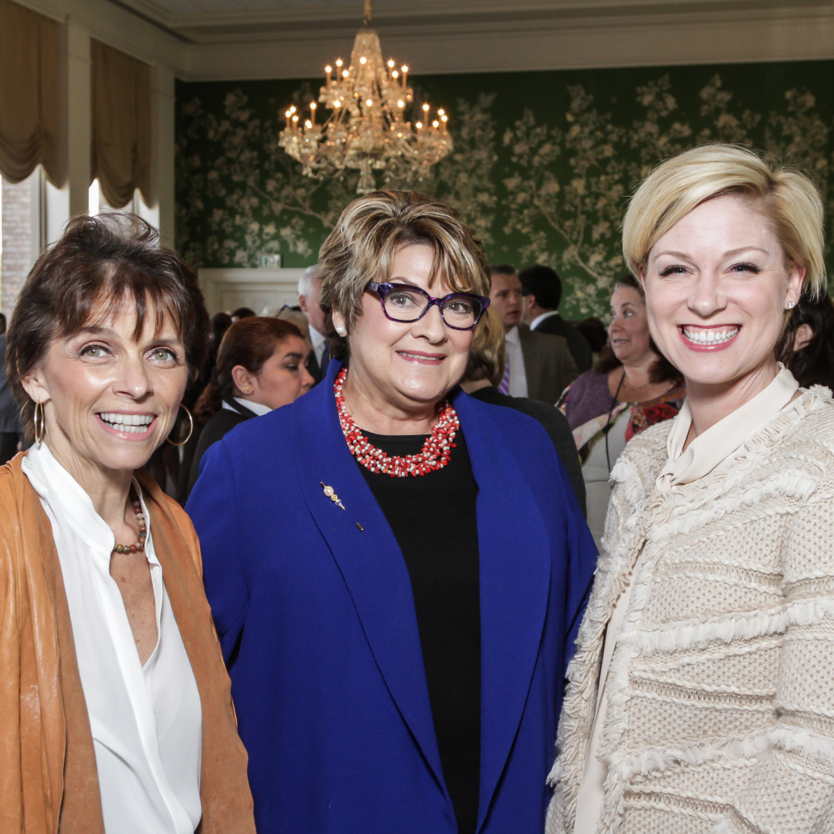 HSPVA luncheon, Feb. 2016, Kathryn McNiel, Cissy Segall David, Sarah Davis