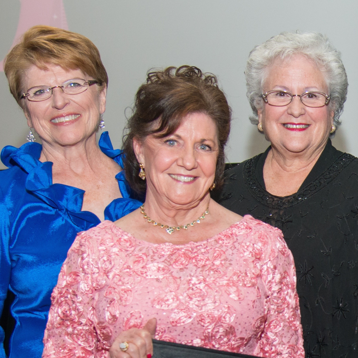 Komen Foundation Gala, Feb. 2016, Gayle McMorrow, Dorothy Gibbons, Marsha Eckermann