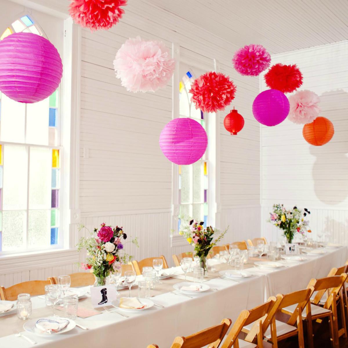 Mercury Hall Austin venue wedding table decorations