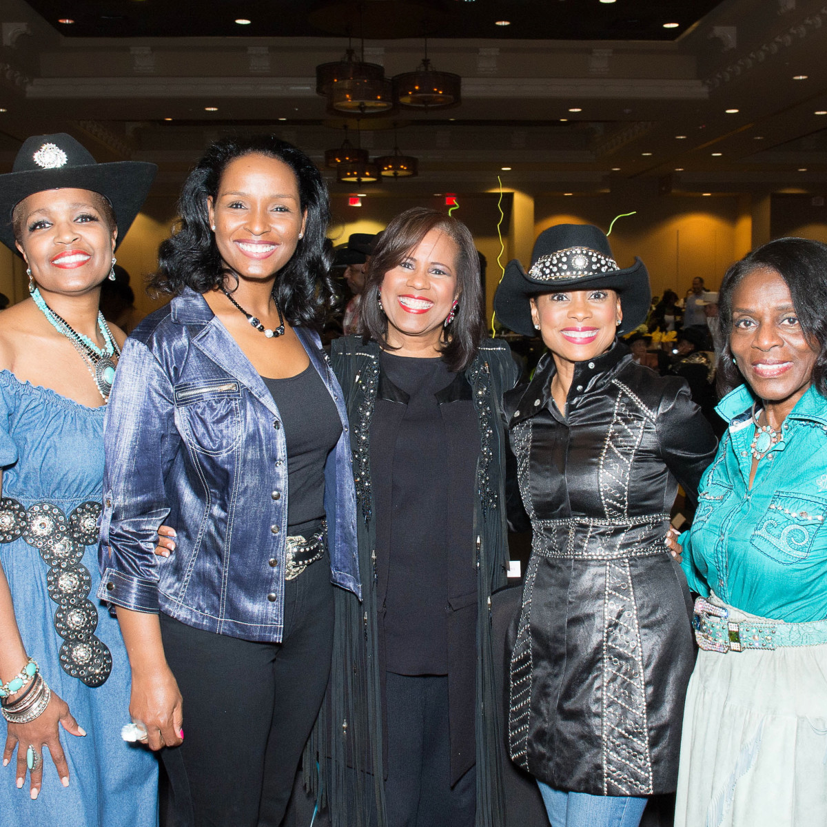 Boots and Bling Vonda Mays, Winnel Herron, Melanie Lawson, Felicia Rolfe and Clarease Yates