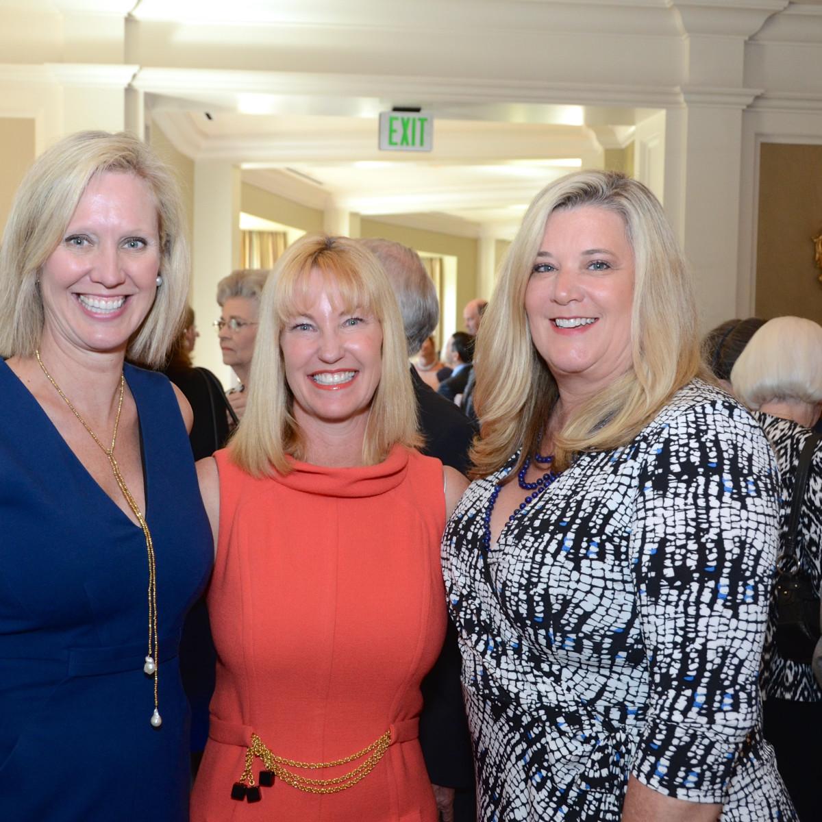 The Center luncheon, Feb. 2016, Pam Lewis, Christy Galtney, Tricia Streitmann