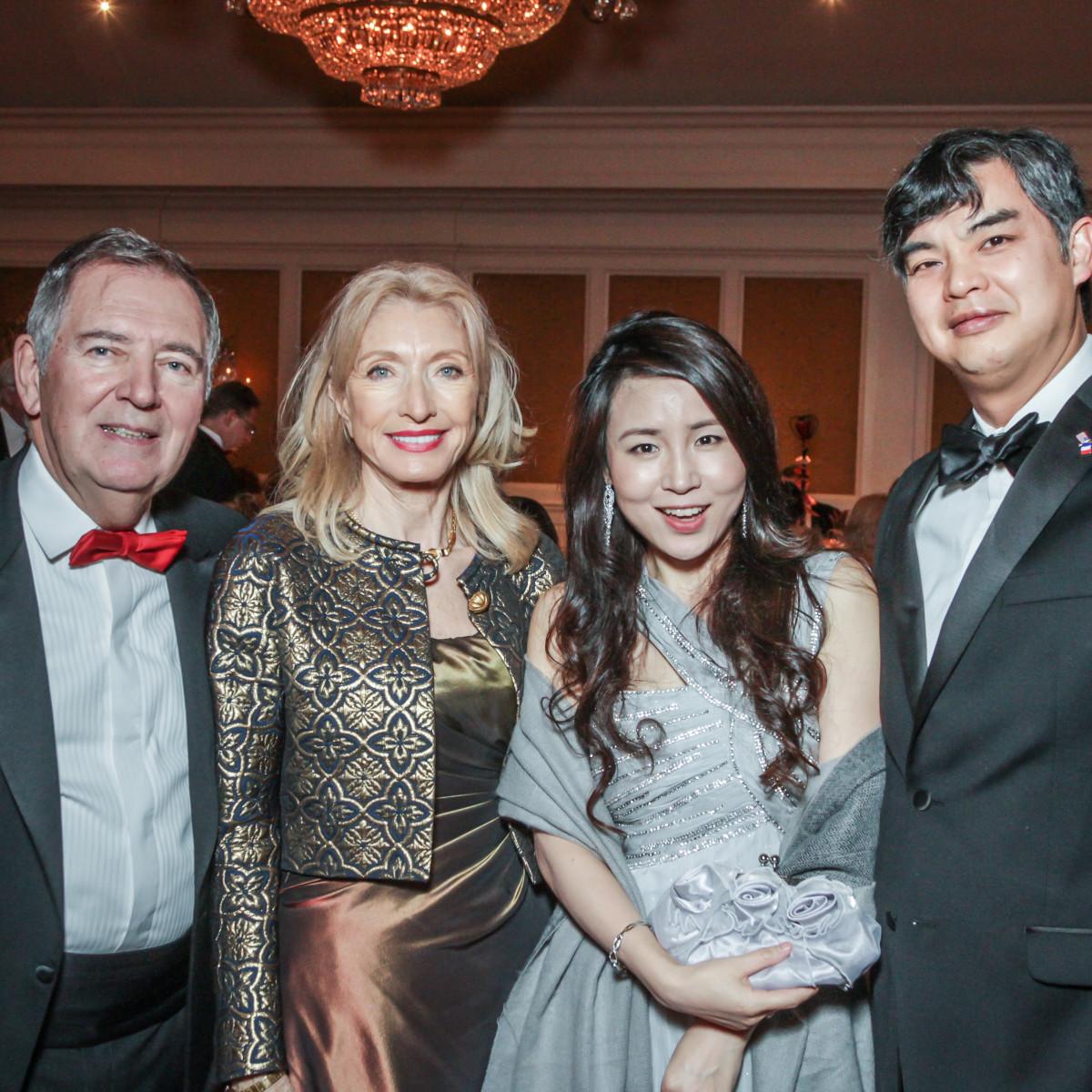 Champagne & Chocolat gala, Feb. 2016, Alain LeNotre, Marie LeNotre, Jane Seam, Sujiro Seam