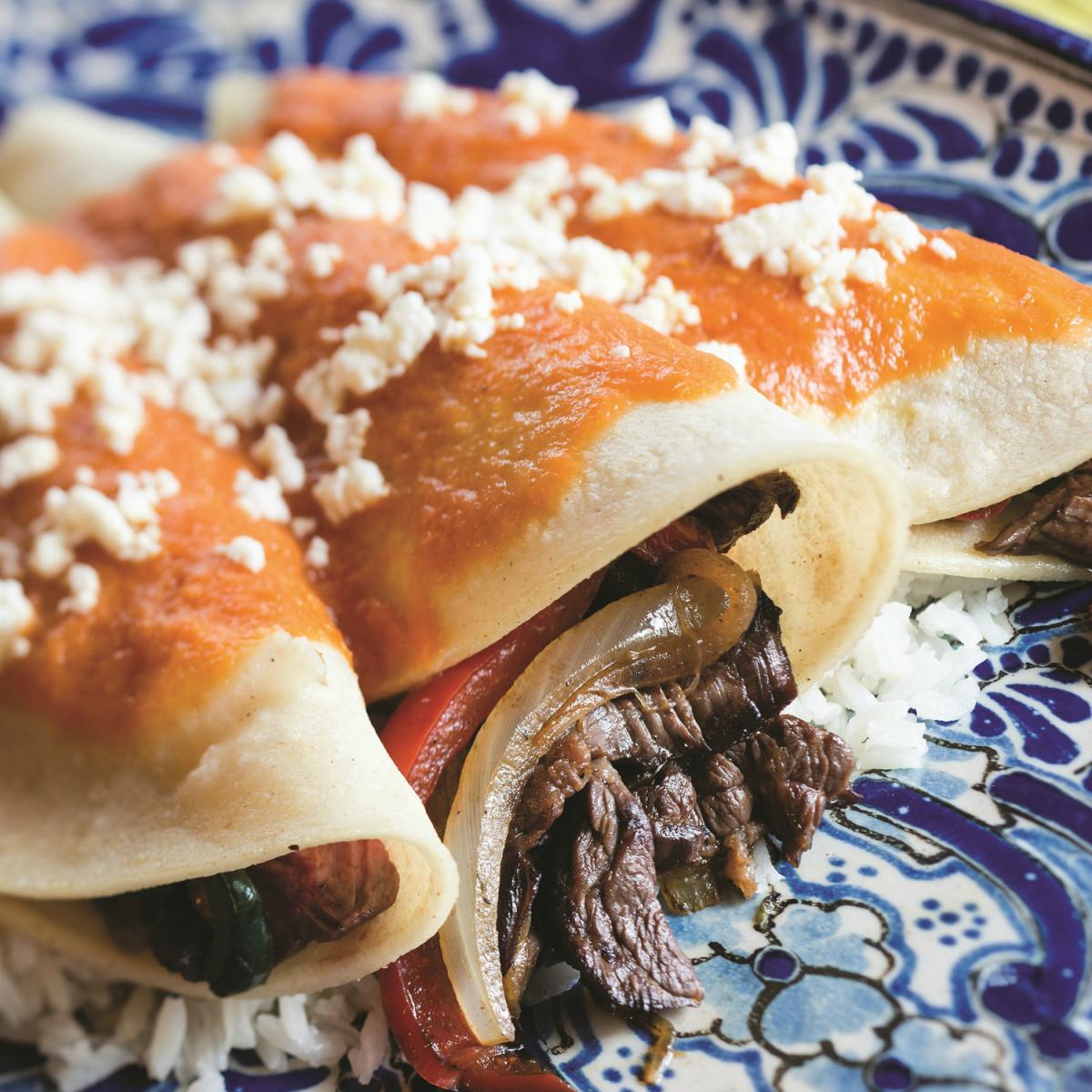 Enchiladas Aztec to Tex-Mex book Cappy Lawton Chris Waters Dunn enchiladas nortenas