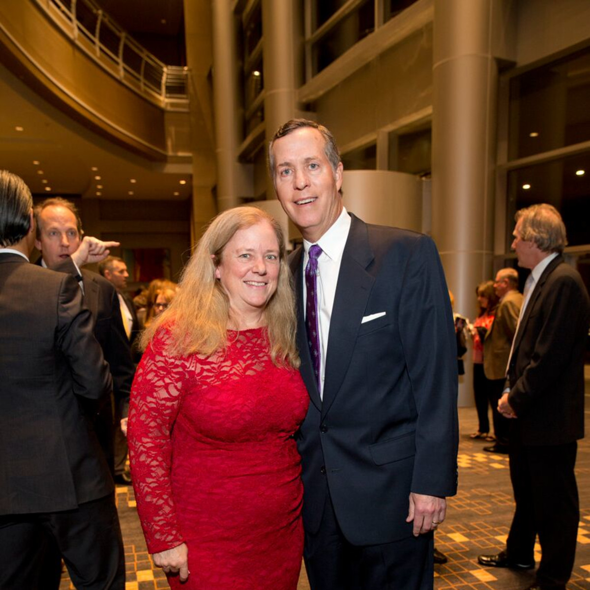 Tennis gala, Feb. 2016, Emily Schaefer, John Embree