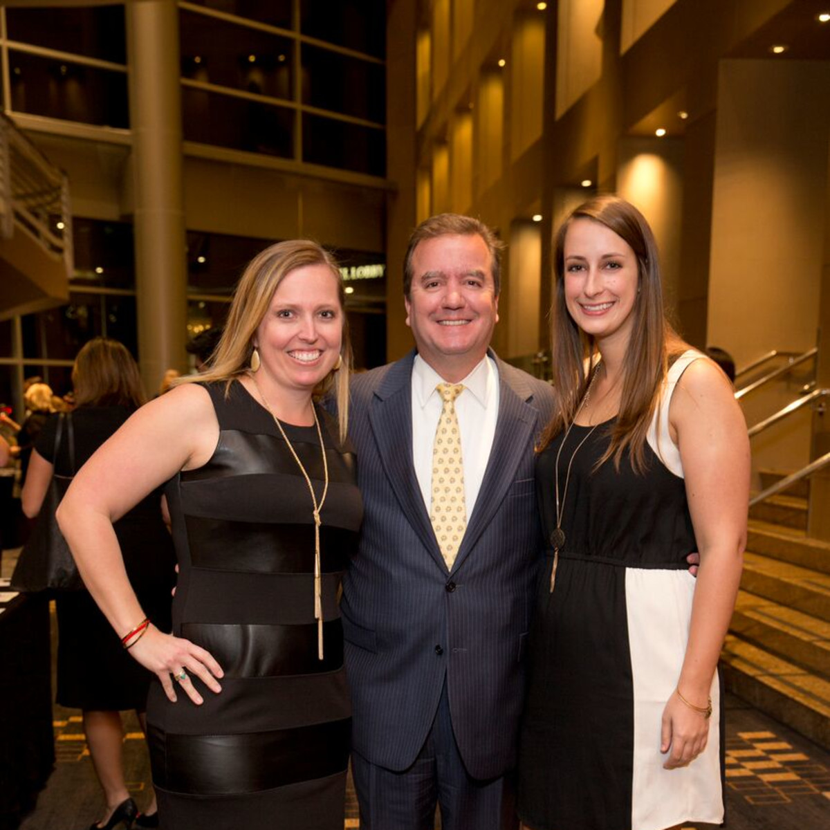 Tennis gala, Feb. 2016, Bronwyn Greer, Joe Bendy, Haley Leffler