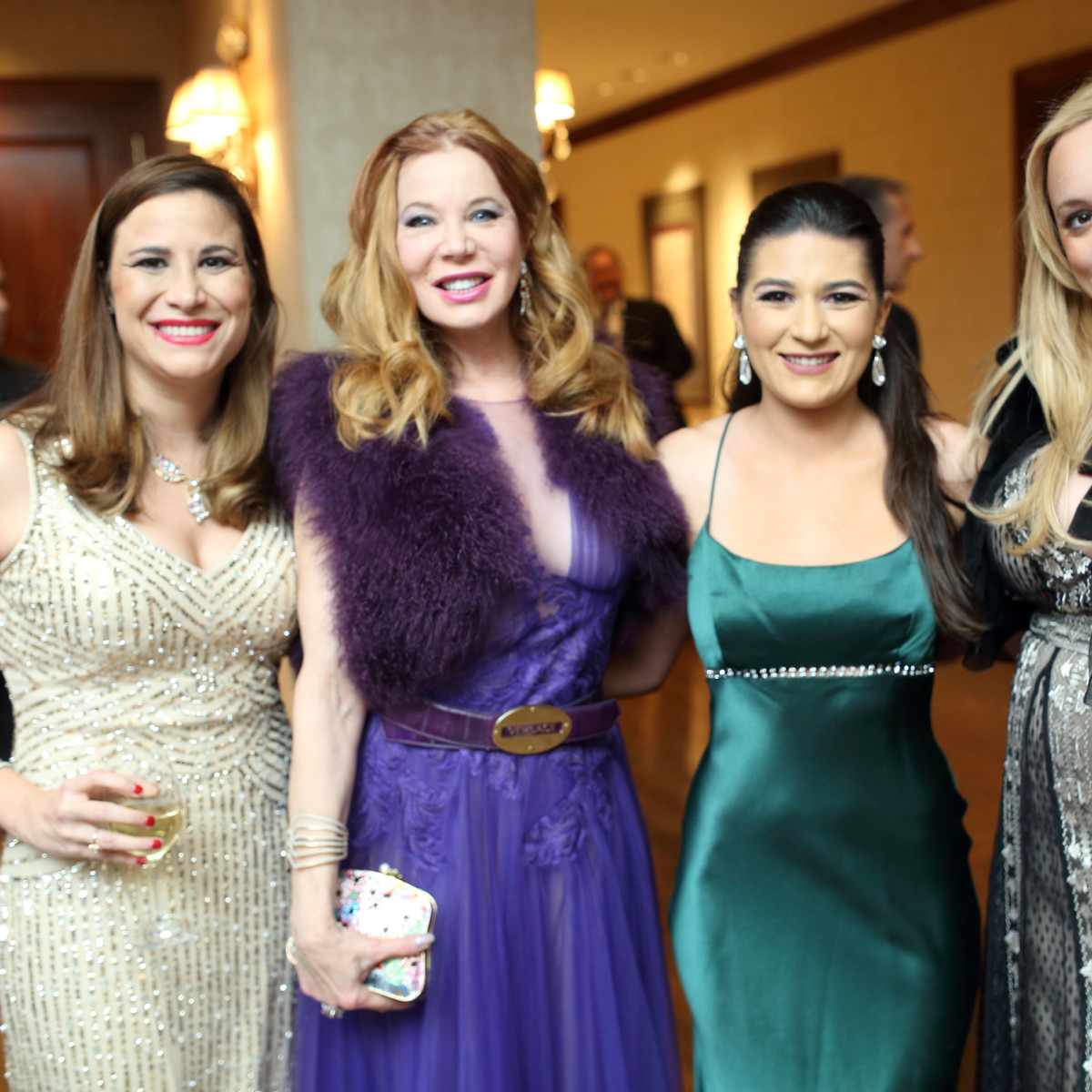 Denali Foundation gala, Feb. 2016, Jacqueline Smooke, Cindi Rose, Sequoia Di Angelo, Erica Rose