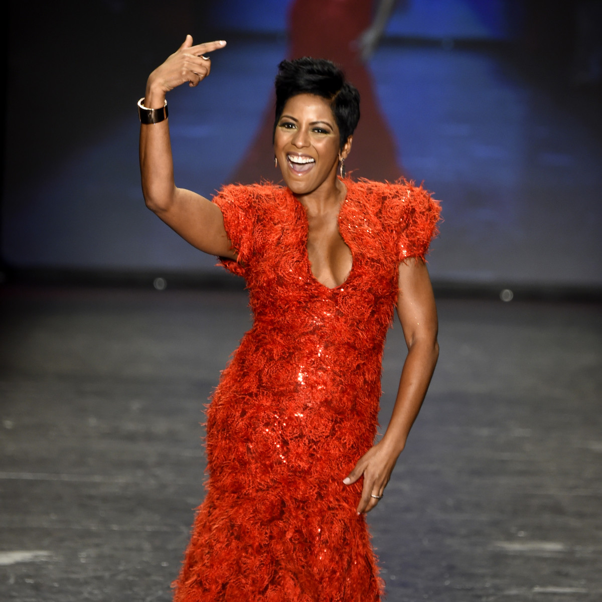 Tamron Hall at American Heart Association Go Red For Women Red Dress Collection 2016