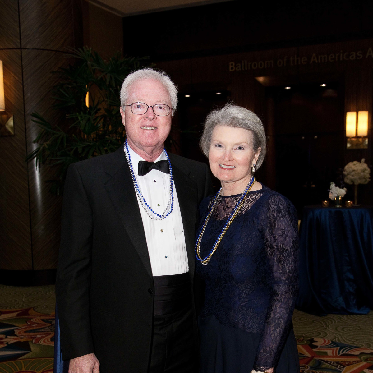 University of St. Thomas Mardi Gras, Feb. 2016, Charlie Chambers, Debbie Chambers