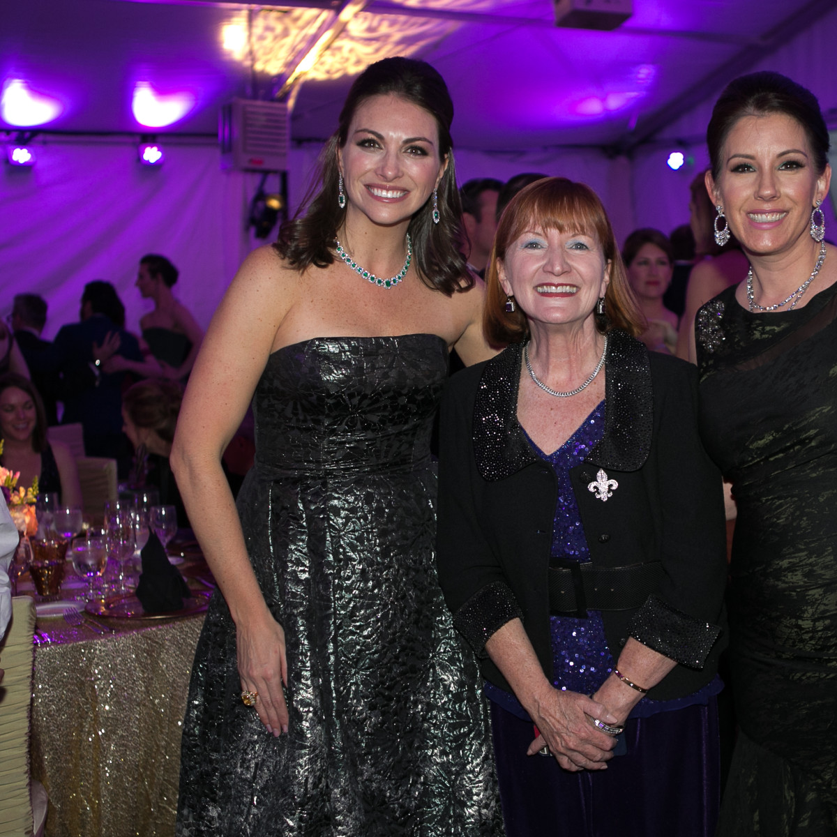 Junior League Gala, Feb. 2016, Beth Zdeblick, Kaye Horn, Mary Margaret Foerester