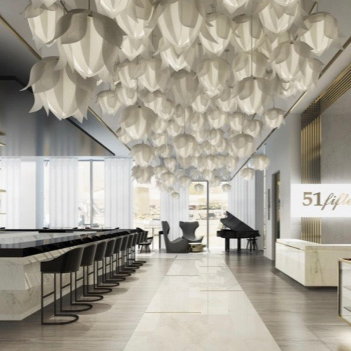 Saks Fifth Avenue Galleria store rendering restaurant