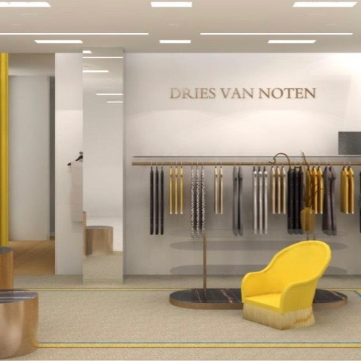 Saks Fifth Avenue Galleria store rendering Dries Van Noten department