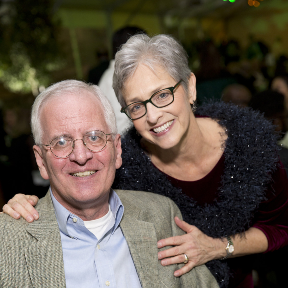 Memorial Park Conservacy Gala, Feb. 2016, Jim Porter, Kay Kamas