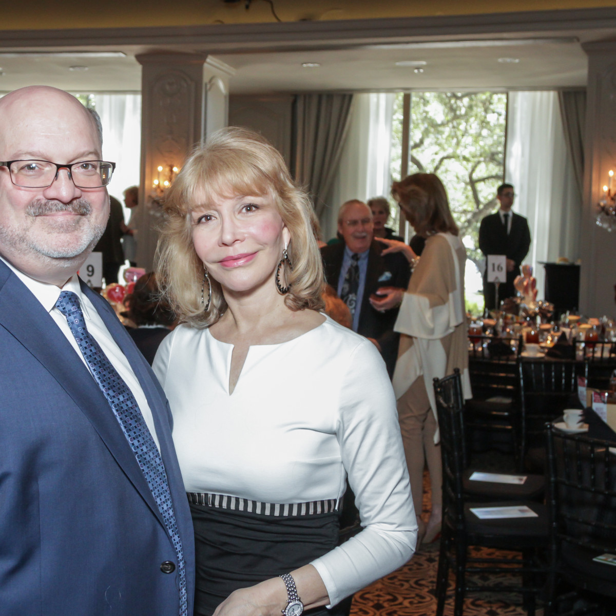 Martin B. Cominsky, Susan Boggio at Interfaith Ministries brunch