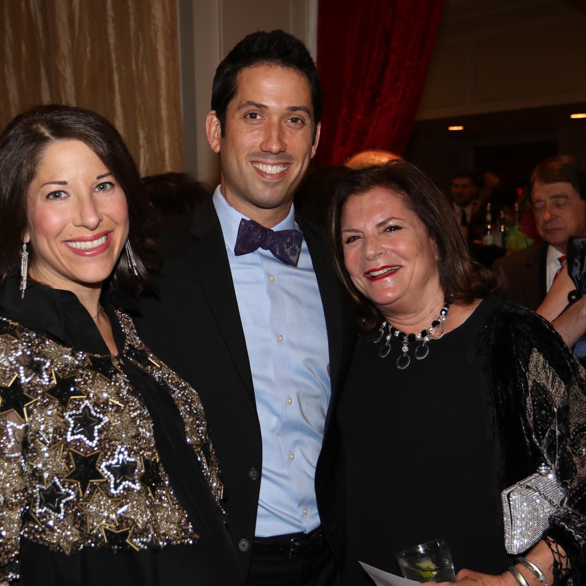 Seven Acres gala, Feb. 2016, Esther Freedman, Doug Freedman, Lynn Sembler Dawson