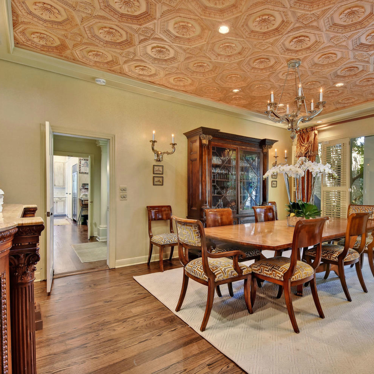 Austin house home Tarrytown 2610 Kenmore Court Ben Crenshaw February 2016 dining