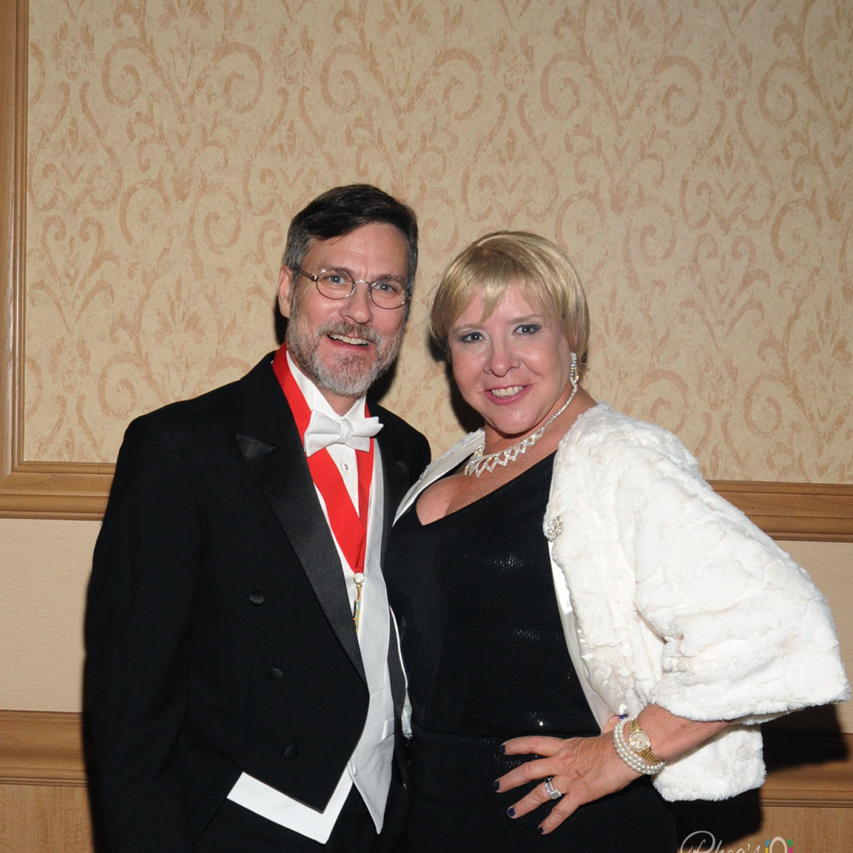Knights of Momus Ball, Feb. 2016, Robert Kline, Sally Kline
