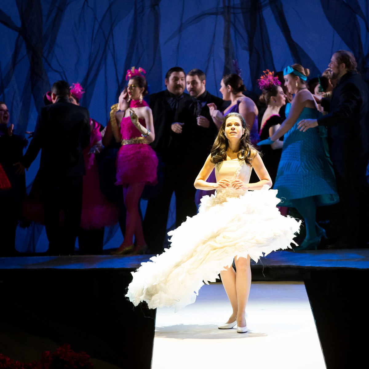 Anna Maria Martinez and Houston Grand Opera chorus in Rusalka