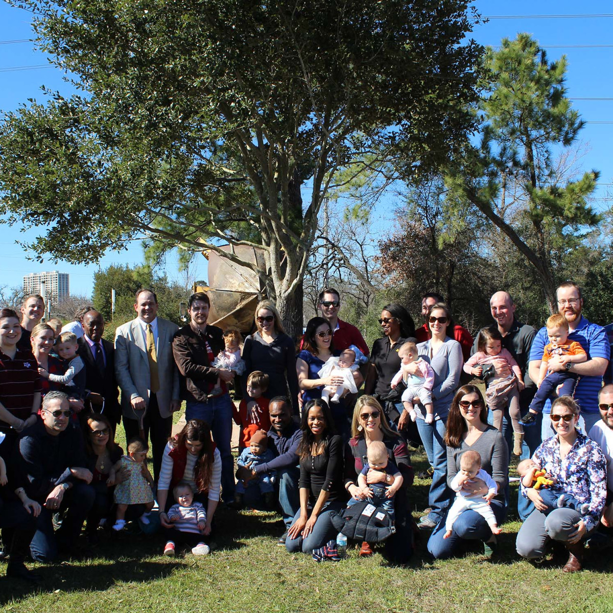 Apache tree planting, Memorial Park, Jan. 2016, redbud trees for babies