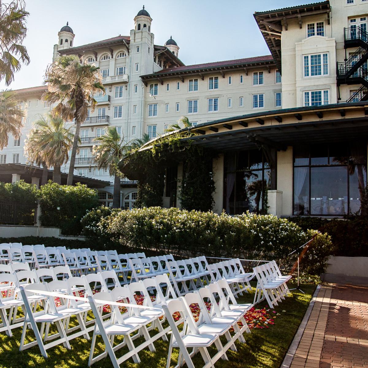 Hotel Galvez Oleander Garden wedding