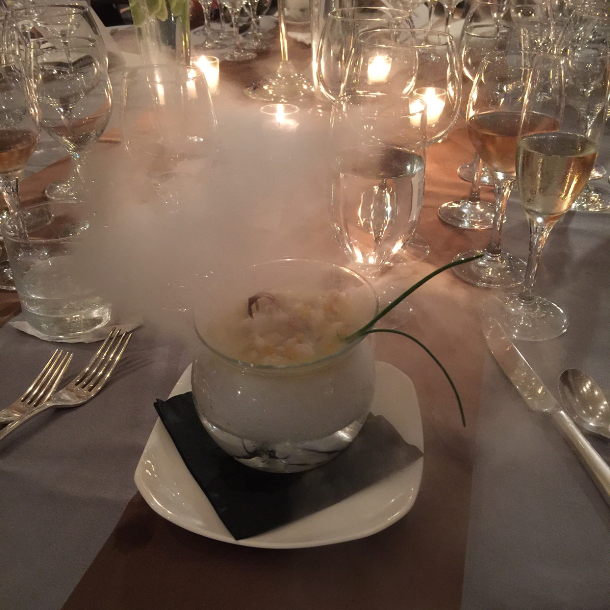 Bon Vivant Chef Dinner, Jan. 2016, Olivier Ciesielski's tropical ceviche