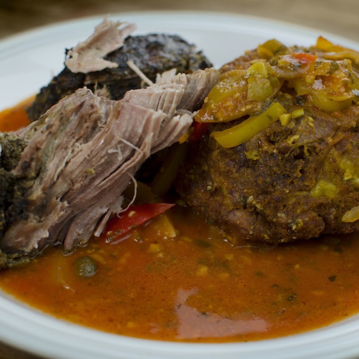 Chago's pernil and mofongo