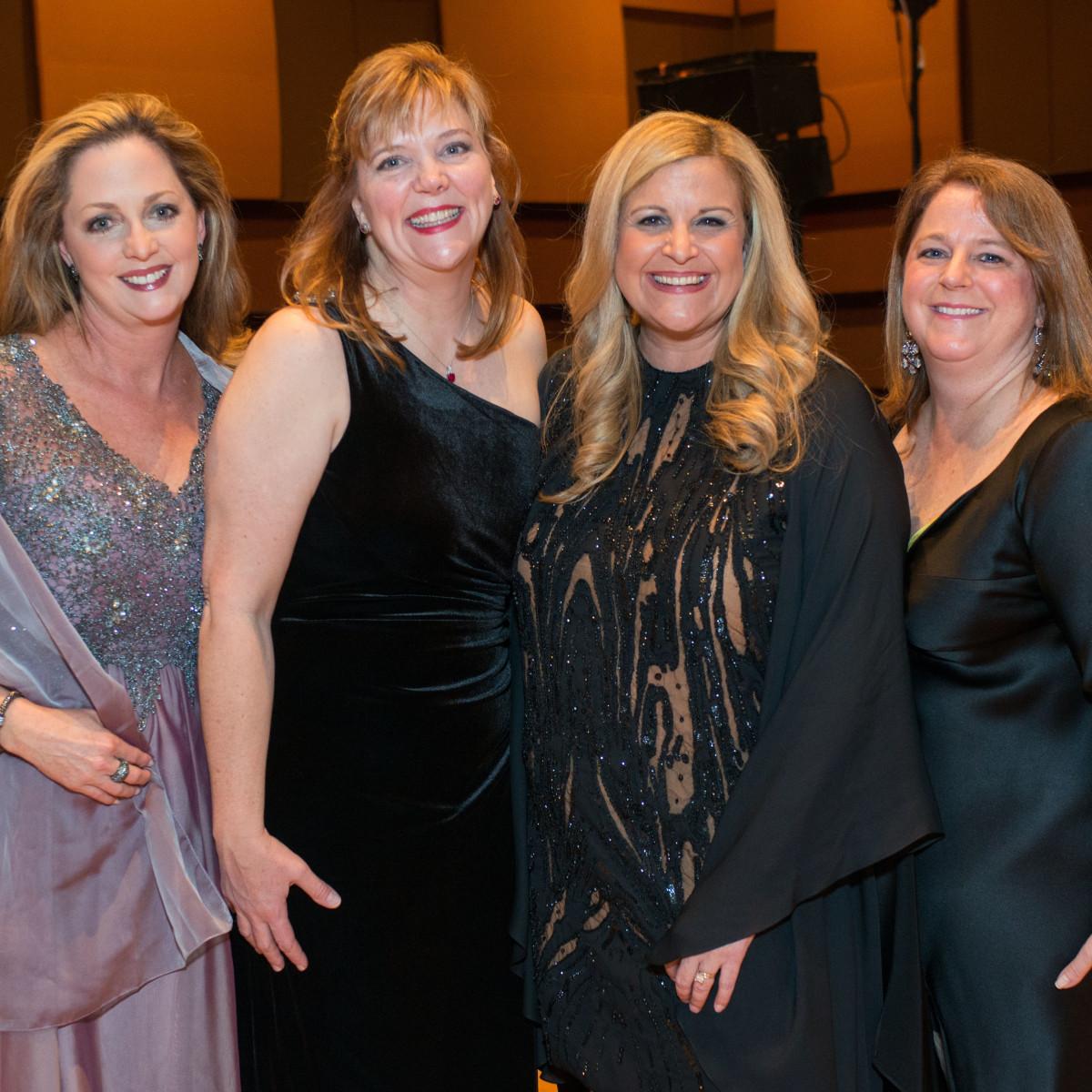 Winter Ball 2016 Kristi Stephens, Kaci Guy, Dee Dee Marsh, Shelley Ludwick