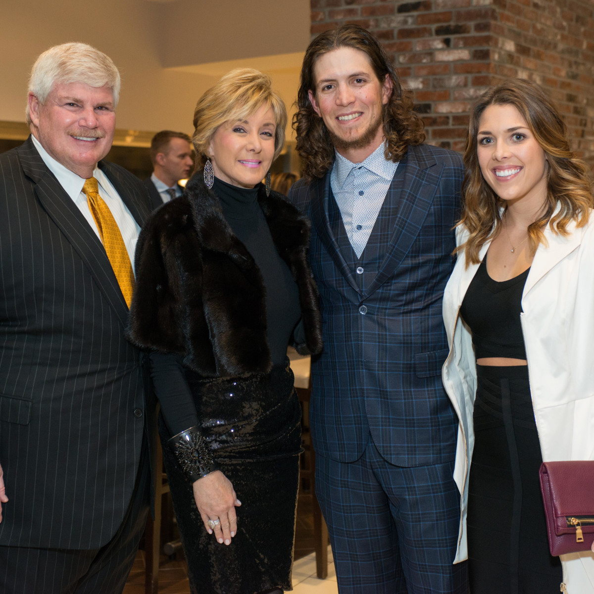 Astros Diamond Gala, Jan. 2016, John Eddie Williams, Sheridan Williams, Colby Rasmus, Megan Rasmus