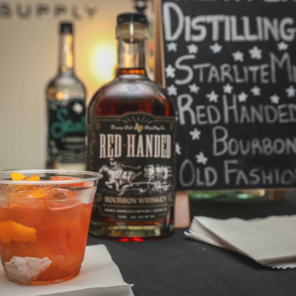 SHED Barbershop Service Industry Night CultureMap Austin Red Handed Bourbon Old Fashioned