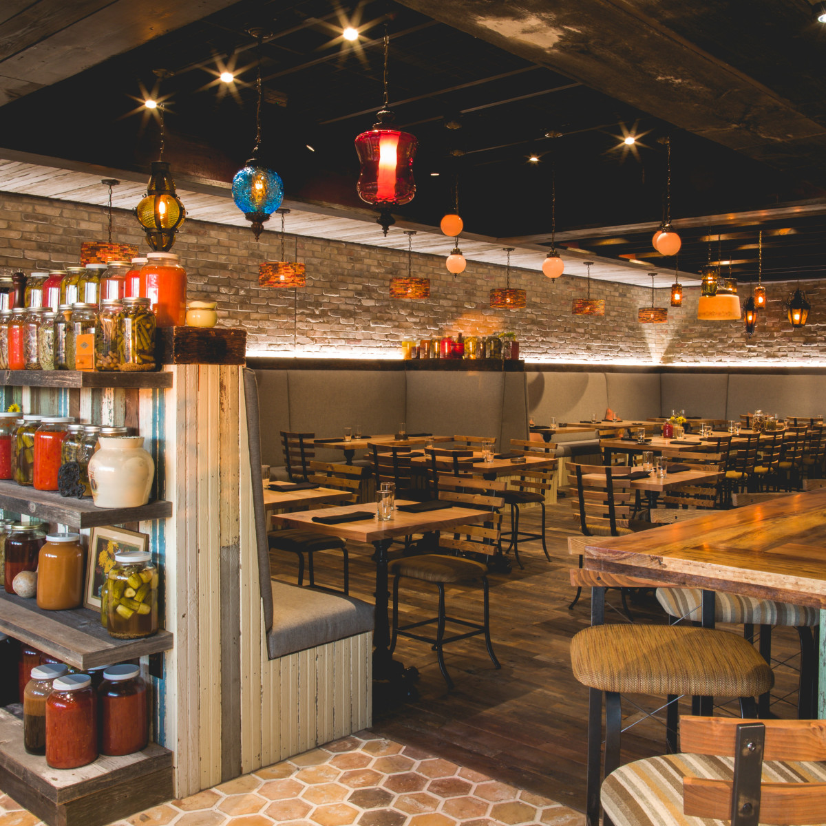 Barley Swine Burnet Road north interior seating bar January 2016
