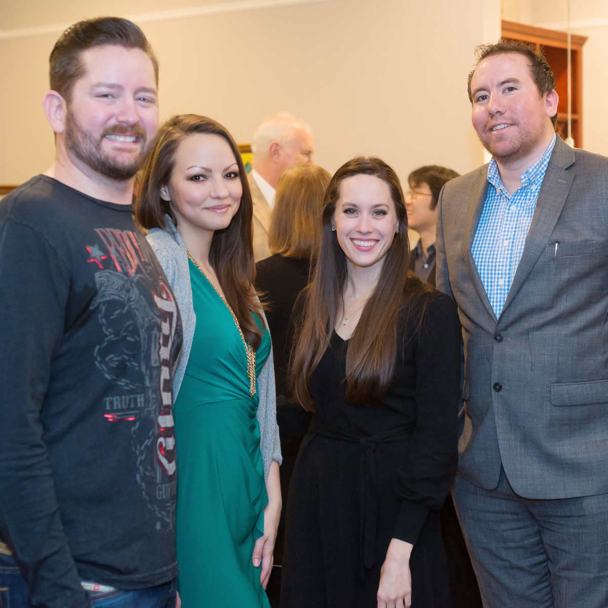 Opera in the Heights, Jan. 2016, Bravissimo, OITH_Bravissimo_Cocktail_Dan Mathena, Mariam Khalili, Marianne Terrell ,Jesse Soto