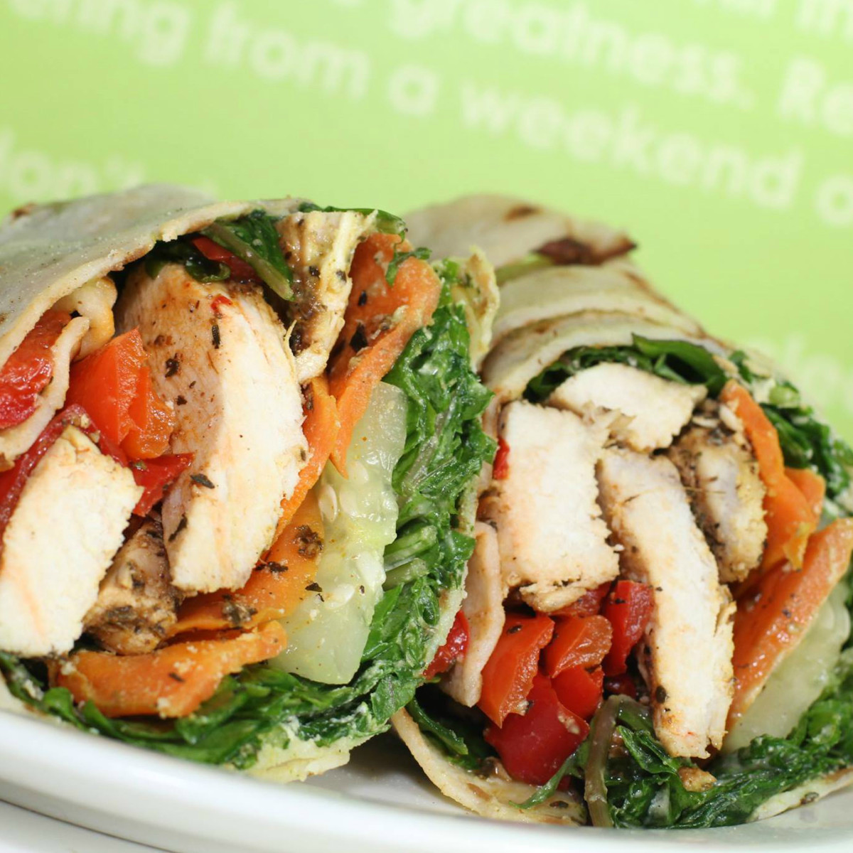 Daily Juice Cafe restaurant chicken wrap