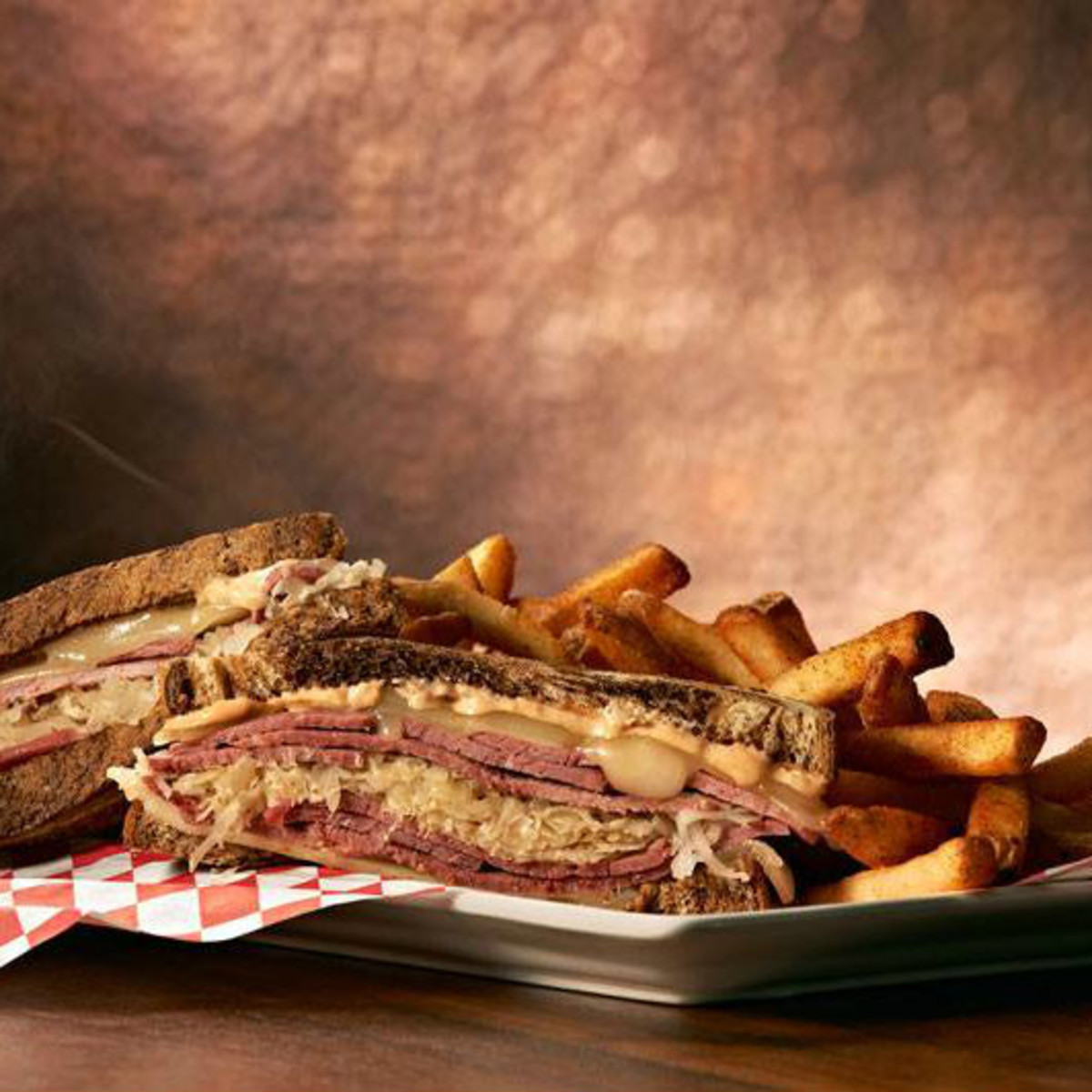 Reuben sandwich at Sherlock's Pub