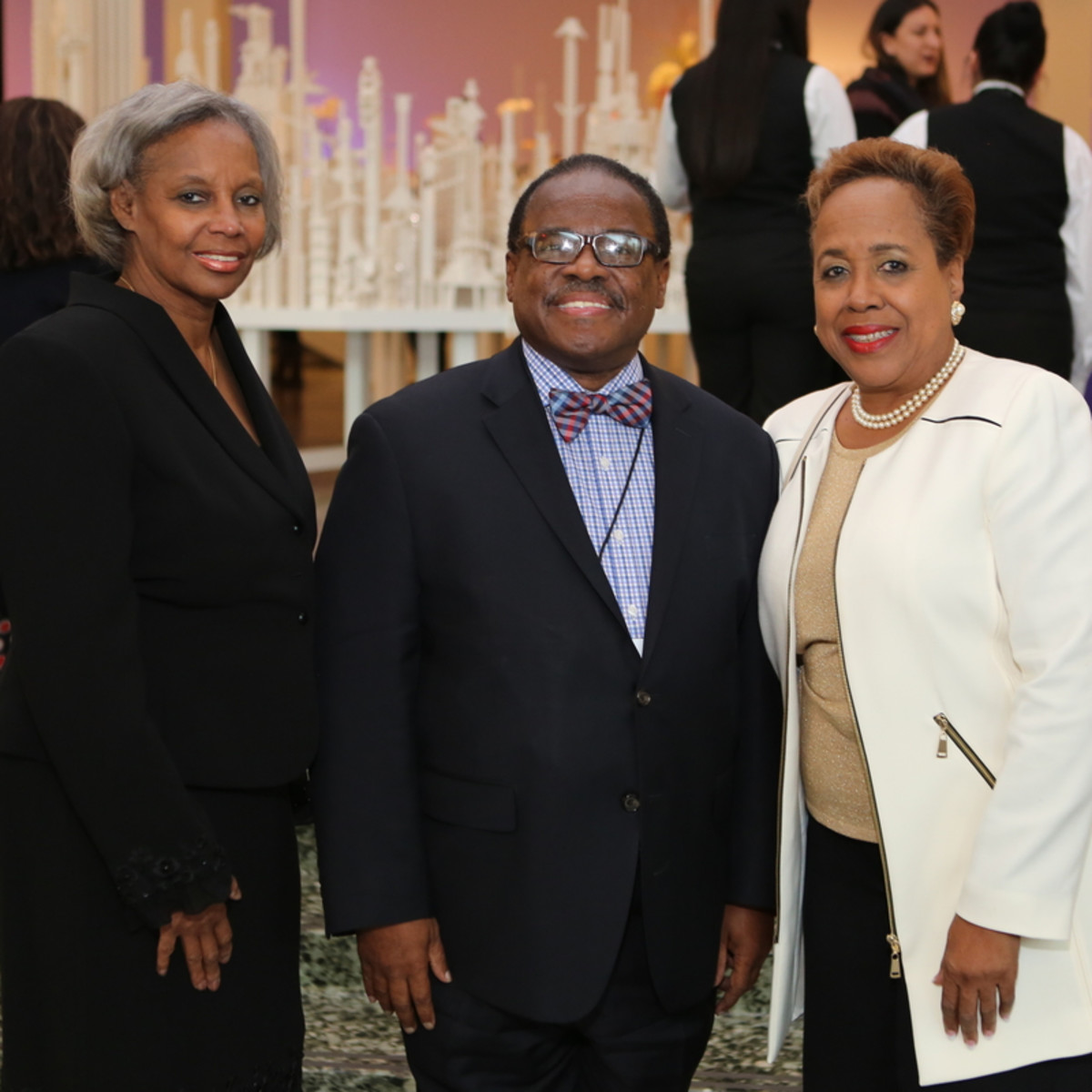 News, Mayor Sylvester Turner Inauguration, Jan. 2016, MFAH, Janice Weaver, Carl Davis, friend.