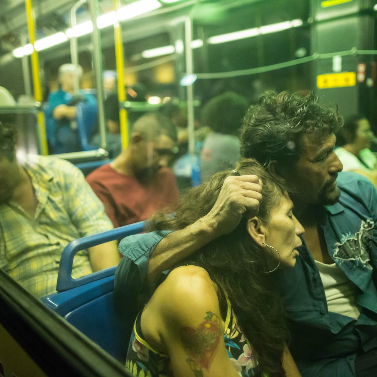 Humans of San Antonio Michael Cirlos photography project bus couple