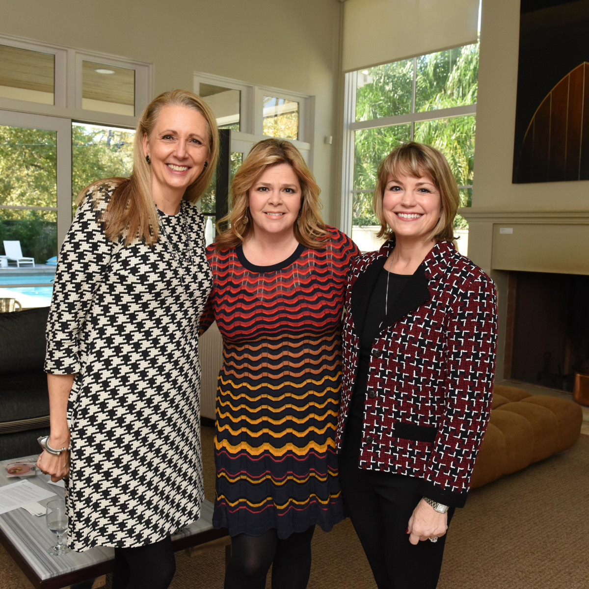 News, Children's Assessment Center tea, Dec. 2015, Elaine Stolte, Kelli Weinzierl and Kelley Lubanko