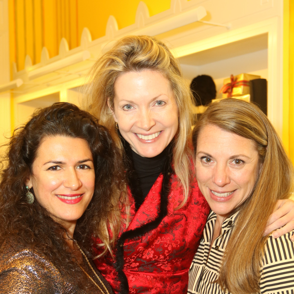 News, Ellevate Network party, Dec. 2015, Rosa LaNeve, Caroline Allison, Karen Vaughn