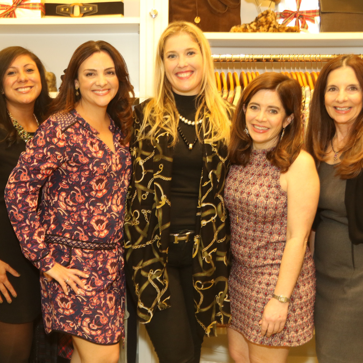 News, Ellevate Network party, Dec. 2015, Bianca Ferrer, Jessica Nicolayevsky, Jennifer Roosth, Mathilde Leary, Luanne Jones.