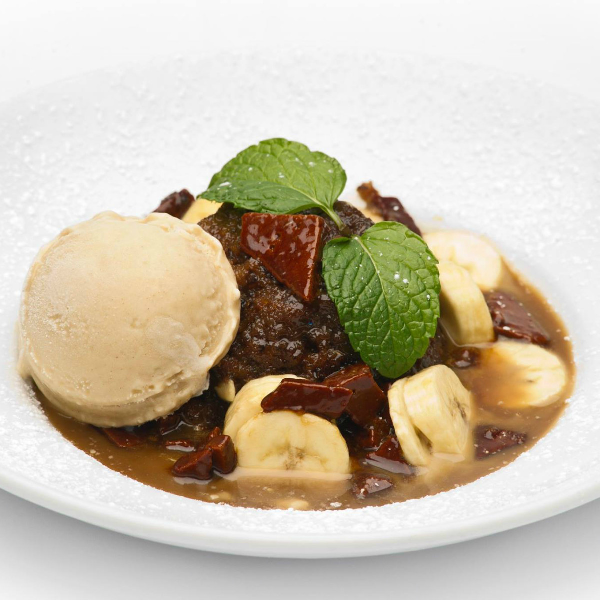 Paesanos toffee banana bread pudding dessert 2015
