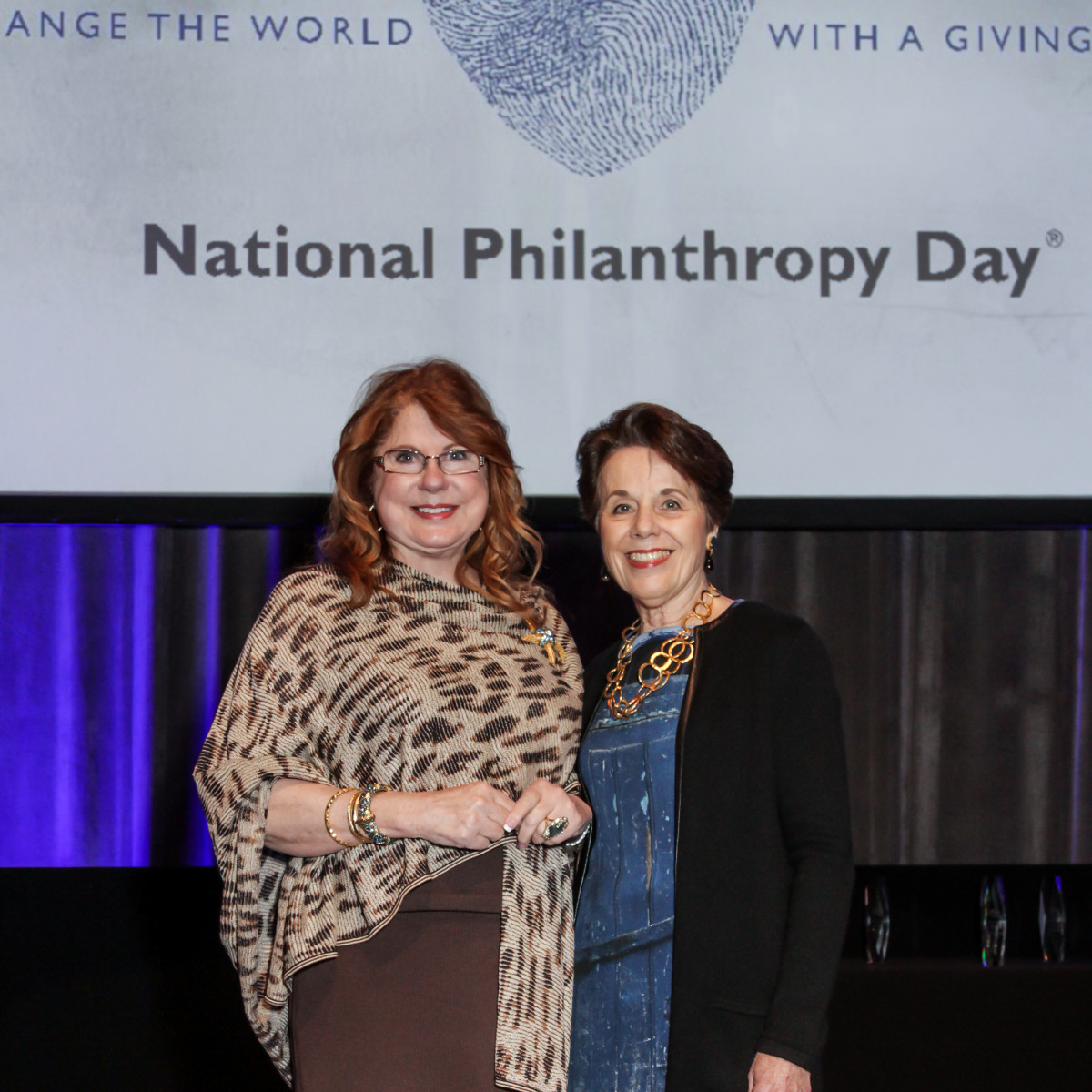 News, National Philanthropy Day Awards, Dec. 2015, Joni Baird, Gini Mithoff