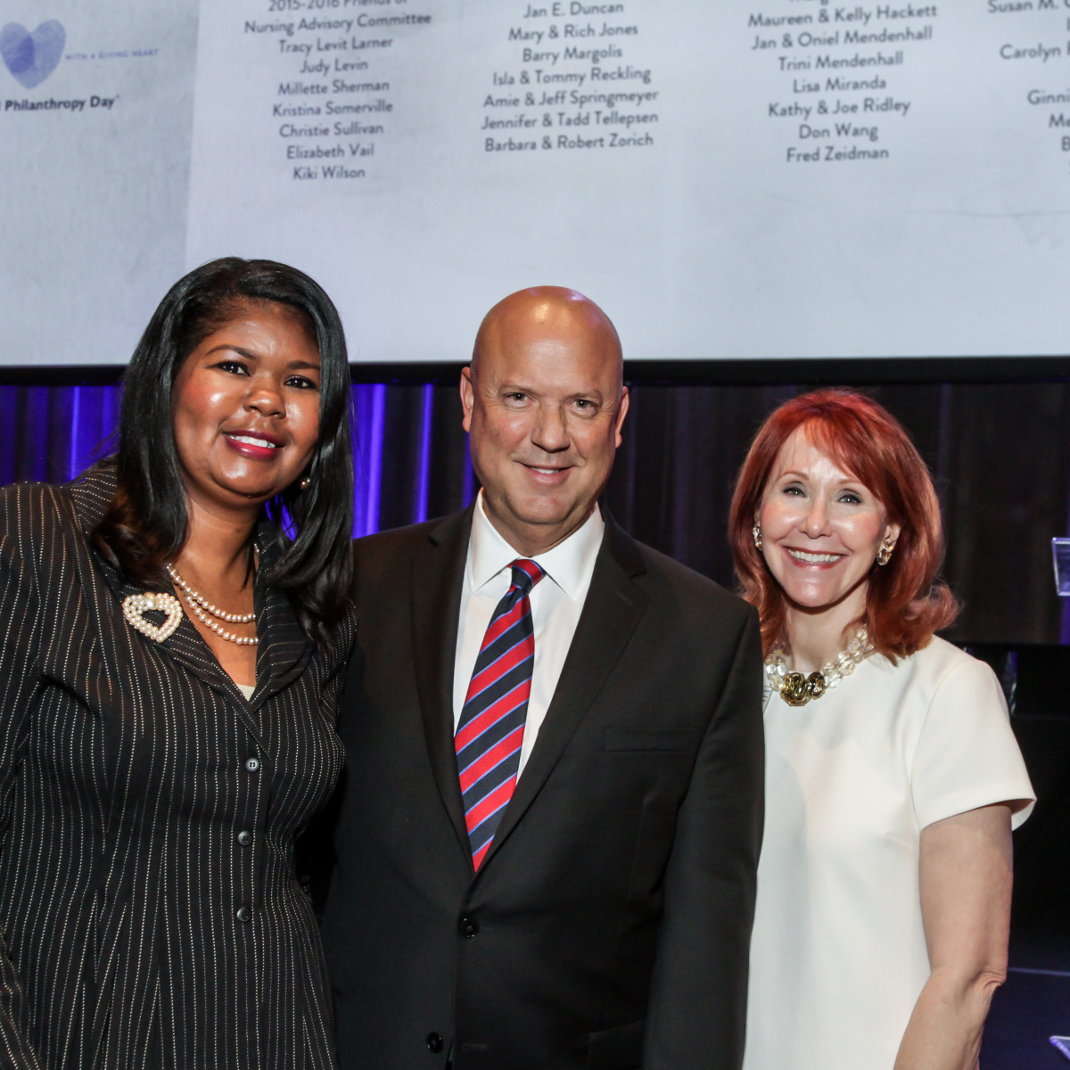 News, National Philanthropy Day Awards, Dec. 2015, April Daniel, Bob Charlet, Judy Howell