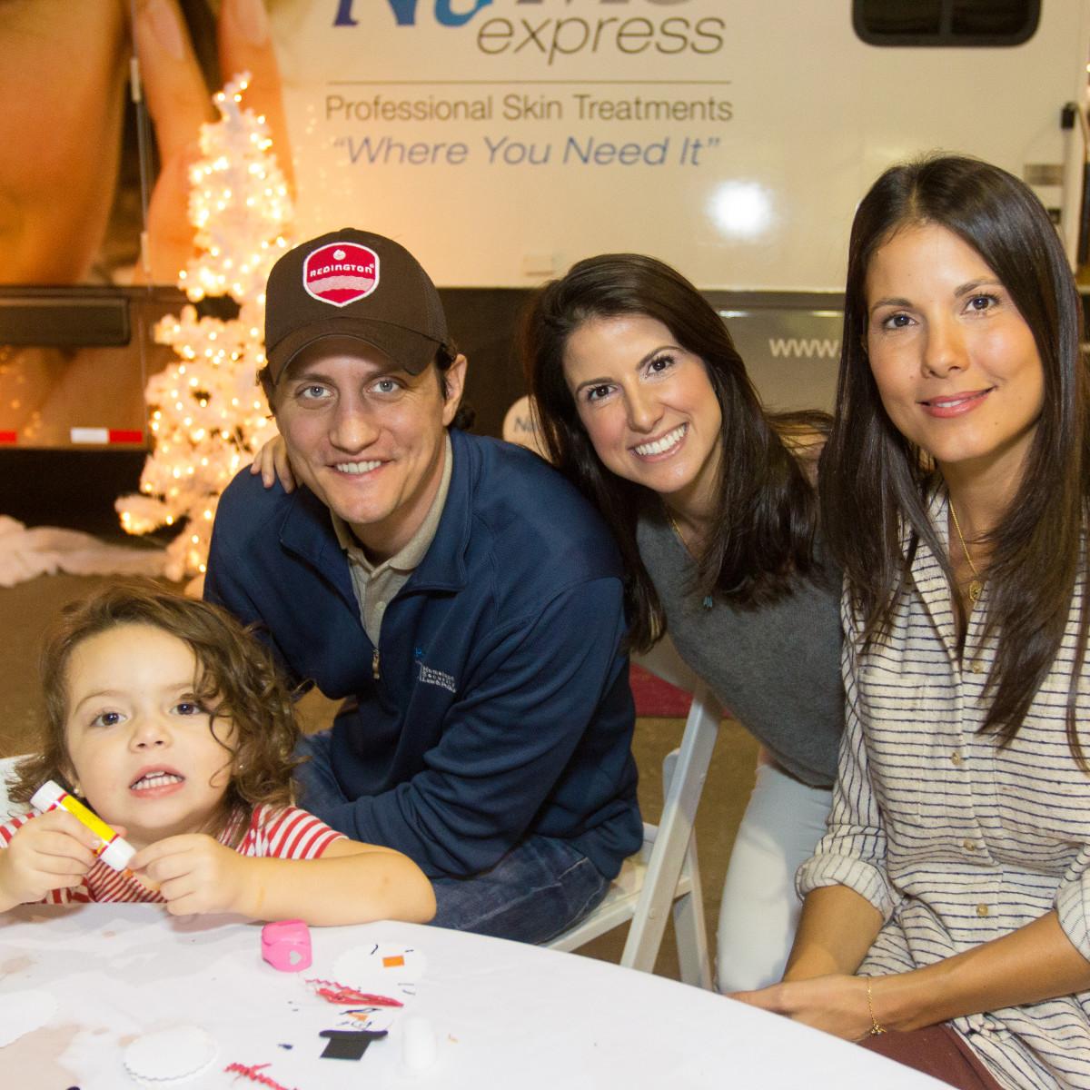 News, CM Holiday Pop-Up Shop, Dec. 2015, Ann Lucia Schinas (child), Scott Goodman, Anna Goodman, Tina Schinas